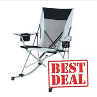 Ozark Trail Outdoor Tension Camp 2 in 1 Rocking Chair, White