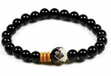 UK Men Ladies Chakra Healing Natural Stone Onyx Crystal Energy Bead Bracelet New