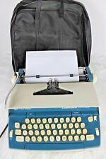 Vintage Smith Corona Seventy Electric Typewriter Series 6e Blue Cream 1970