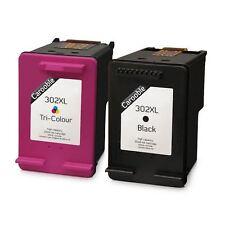 HP 302 X L Remanufactured Black & Colour Ink Cartridges for Deskjet 1110