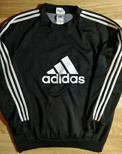 Adidas 90's Glarnerland Team Vintage Mens Sweatshirt Track Jacket Crewneck Black