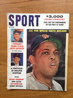 2 vintage issues 1961 Sport Magazine. June, Oct Willie Mays and Wally Moon cover