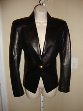 GORGEOUS NWT $5,985 BALMAIN BLACK LEATHER JACKET
