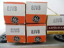 """(1) ONE TUBE  NOS  """" 8JV8 """"  VACUUM TUBE  FULLY TESTED GENERAL ELECTRIC"""
