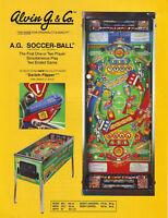 AG SOCCER BALL By ALVIN G 1991 ORIGINAL NOS PINBALL MACHINE SALES FLYER VER #2