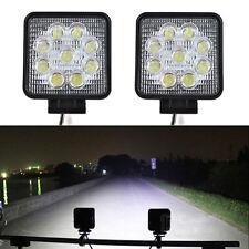 2Pcs 12V 24V 27W Phare Travail LED Lampe SUV AUTO Lumière Inondation Automobiles
