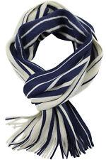 Srickschal modische Streifen blau weiss 100%Wolle 236124-40-RT-2