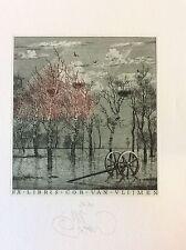 KONSTANTIN KALINOVICH / Ukraine,  Ex Libris , Landscape, Limited Ed. 35/80