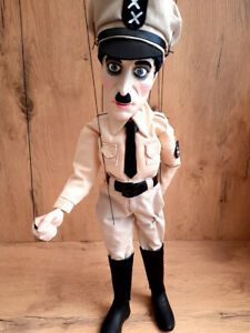 Charlie Chaplin - The Great Dictator PUPPET / MARIONETTE - unique handmade