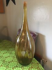 New listing Vintage Amber Glass Jug Blown Glass Wine Jug Water Bottle Extra Large