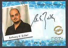CSI MIAMI (Strictly Ink) AUTOGRAPH CARD #MI-A8 ANTHONY E. ZUIKER Creator