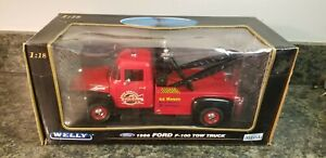 Welly Ford 1956 F-100 Tow Truck Bob's Towing NIB NO. 19834W (Lot 955)