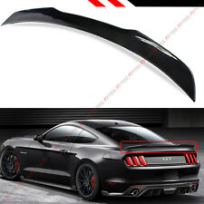For 2015-17 Ford Mustang S550 H Style Painted Glossy Blk Rear Trunk Spoiler Wing