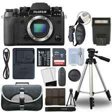 Fujifilm X-T2 Mirrorless 24.3MP 4K Fuji X T2 Digital Camera Black + 32GB Bundle