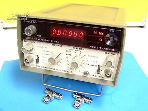 HP 5300A+5302A, robustes Frequenzzählersystem von Hewlett Packard  !