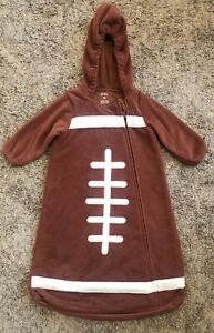Carter's Football Hooded Zip Front Costume Bag Cozy Fleece Medium