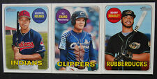 2018 Topps Heritage Minor League Cleveland Indians Team Set 3 Baseball Cards