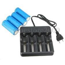 4x 26650 3.7V 5000mAh Li-ion Rechargeable Battery + Charger For Flashlight Torch