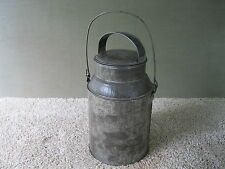 Antique Milk Can Tin Cream Pail Vintage Primitive 2 Quart, Bail Handle, Clean