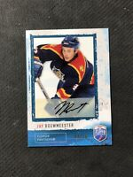 2006-07 BE A PLAYER BAP JAY BOUWMEESTER RARE AUTOGRAPH AUTO BLUE #ed 4/10