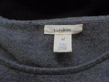 Women's Caslon 1 Piece Roll Up Sleeve Crew Neck Front Pockets Dress Size XL
