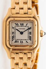 Estate $10,000 Cartier PANTHER 18k Yellow Gold Ladies Dress Watch & BOX