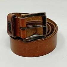 LEVI'S Genuine Leather Lined Adjustable Classic Buckle Brown Belt 44