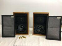 2 X ROGERS LS3/5A  LS3 LS35A 15 OHM MONITOR  LOUDSPEAKERS SPEAKER PAIR VINTAGE
