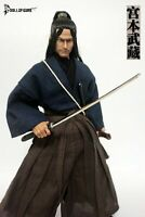 """1/6 Miyamoto Musashi Clothes Full Set Sword&Shoes Model Fit 12"""" Male Figure"""