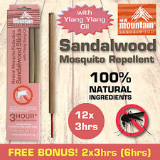 New Mountain® 100% Natural Sandalwood Mosquito Repellent with 'Ylang Ylang Oil'