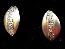 frosted Sterling Silver Sparkle Bling stud earrings ladies xmas gift boxed new