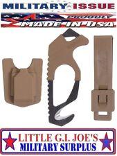 Gerber Coyote Brown Multicam Seat Belt Cutter Rescue Hook Glass Breaker MIL.ISSU