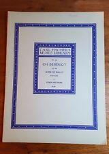 CH. De Beriot,Op. 100, Scene de Ballet,Fantasia for Piano and Violin,C.Fischer