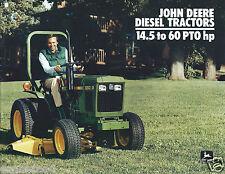 Equipment Brochure - John Deere - Diesel Tractors - 14.5 to 60 hp c1984 (E2999)