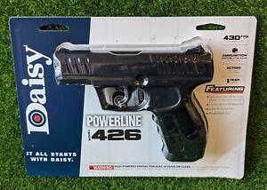 Daisy Powerline 426 BB Pistol, .177 Cal, 430 FPS CO2, Matte Black - 980426-442