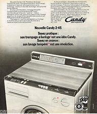 PUBLICITE ADVERTISING 055  1973  CANDY  lave linge machine à laver  2-45
