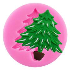 3D Silicone Christmas Tree Fondant Cake Decor Mold Chocolate Sugarcraft Mould ×1