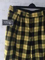 Women's Versace Versus Classic Tartan Trousers Size UK