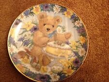 Franklin Mint Plate Teddy's Easter Treat