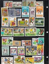 SPORTS FOOTBAL 4 SCANS PLUS USA SS USED STAMPS MIXED