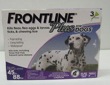 Frontline Plus Dogs Flea & Tick Large Breed Dog Treatment 45 - 88 lbs 3 Doses
