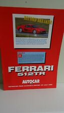 Ferrari 512 Tr Autocar Road Test Brochure