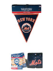New York Mets Authentic Major League Amscan Party Supplies 4 Pc Bundle