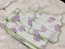 Matouk Germny NWT (3)pc Bath Towel Set Charlotte Print 100% Terry Cotton