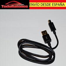 Cable de datos Cargador plano Micro usb para SAMSUNG LG, MOTO.NEGRO desde España
