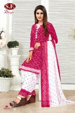 Synthetic Unstitched Shalwar Kameez Ethnic Asian Dress Material Printed Design