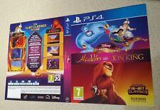 Juegos clásicos de Disney: Aladdin Y El Rey León PS4 Caja Arte sólo