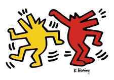 Keith Haring DANCING DOGS 11x14 Giclee Pop Art Print **SALE