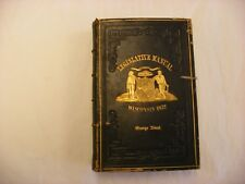 Antique Book State Legislative Manual Wisconsin 1872 - George Abert Copy
