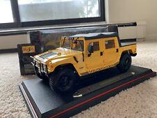 1/18 Hummer H1 Hard Top Humvee Maisto Yellow New